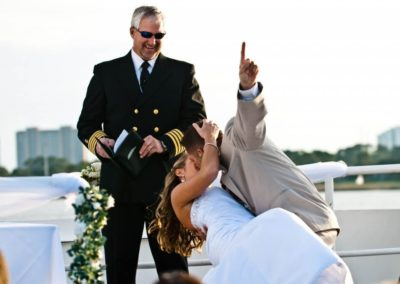 Enjoy an absolute private, customized wedding out on the sea on a 125' yacht.