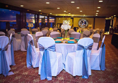 The SOLARIS wedding planners will execute your vision and custom design all the decor, flowers and lighting to what you want.