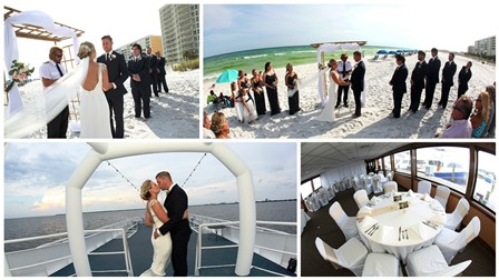 Our wedding planners can also arrange for a Destin beach wedding followed by a yacht reception.