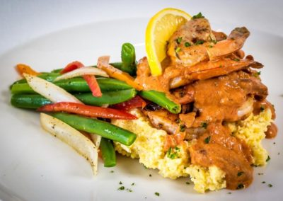 A SOLARIS specialty - Shrimp and Grits