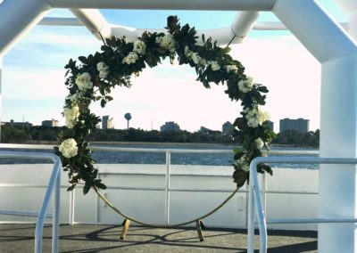 Creative, custom floral designs by our wedding planners.