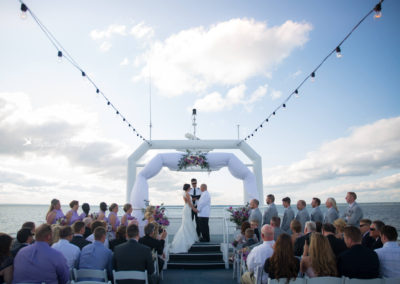 Picture yourself here for a private and memorable sunset yacht wedding