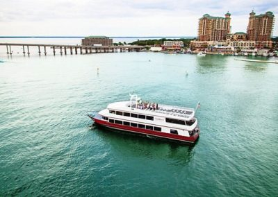 The SOLARIS cruises year-round from the Sandestin resort for Sunset Dinner and Dancing Cruises, weddings, meetings, events and more.