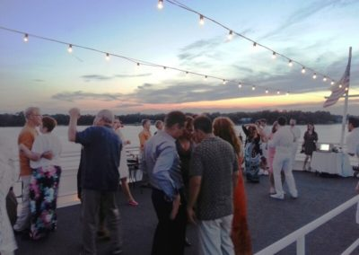 Your reception can flow throughout all three decks including the sky deck