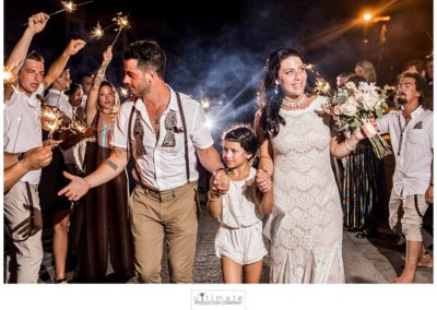 Your fairytale ending can include a sparkler exit