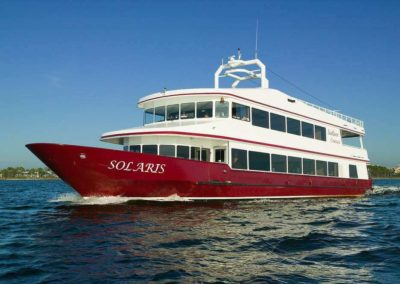 The SOLARIS is available year-round, day or night, for meetings dockside or out on the waters.