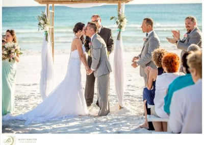 Amber and Brandon were married by the SOLARIS captain on the beach, followed by a yacht reception.