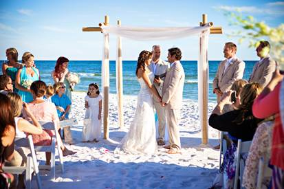 Experience the best of both worlds as our wedding planners plan your Destin beach wedding and reception.