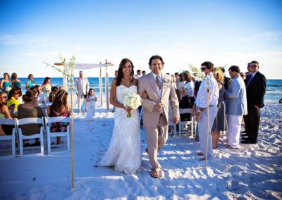 Our wedding planners can handle all the beach permits and planning for your Destin beach wedding.