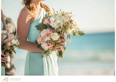 Special mix of flowers for this Destin Beach Wedding