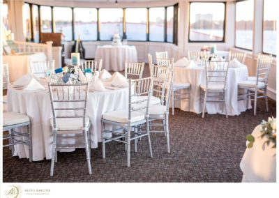 A majestic yacht setting for your reception.