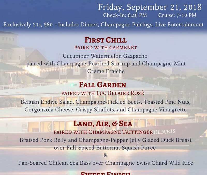 Top Things to Do in Destin in the Fall | Autumn Harvest Champagne Dinner Cruise