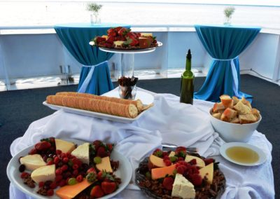 Exquisite meals, breathtaking views for your reception.