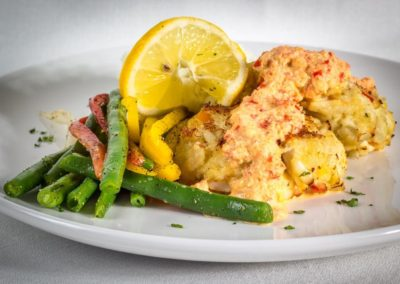 A SOLARIS specialty, fresh Crab Cakes with sweet lump crab meat.