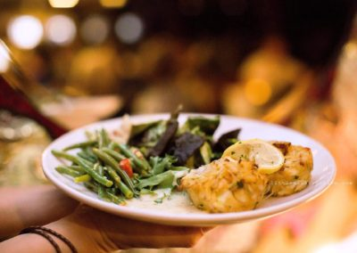 A SOLARIS specialty, Savory Crab Cakes with fresh, lump crabmeat