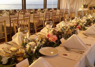 An elegant reception out at sea with live music and coastal cuisines is an experience your guests will never forget.