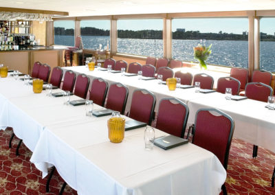 Our event planners can customize our flexible 3 decks of indoor and outdoor spaces to your needs.