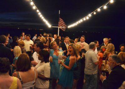 Cruising through a fun wedding reception on the SOLARIS sky deck.