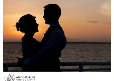 An ever-changing sunset is the backdrop for your stunning wedding pictures.