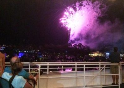 Enjoy weekly Fireworks Dinner Cruises in the summer.