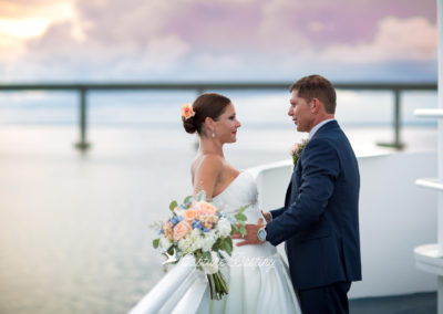 Embark on the experience of a lifetime on this exclusive 125′ yacht that serves as both your ceremony and reception venue with unlimited, picturesque views on the water.