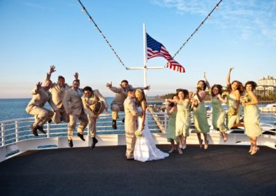 Embark on the experience of a lifetime on this private yacht that serves as both your ceremony and reception venue.