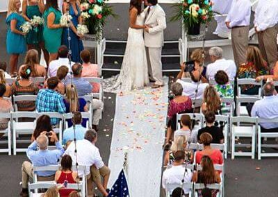 Your forever begins here as you seal your vows with a kiss.