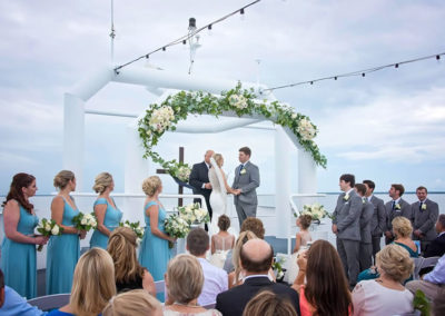 Get married by the SOLARIS captain in an absolute private ceremony out at sea on the sky deck.