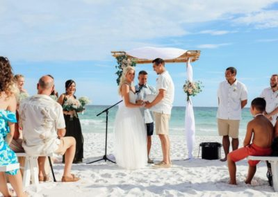Dreaming of a beach wedding? Our wedding planners can plan the beach wedding and reception.