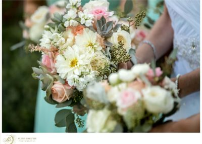 Soft pastel spring bouquets