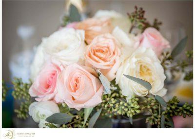 Romantic blush rose bouquet