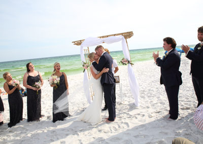 Our wedding planners save you time, stress and money by being your local experts for your beach wedding.